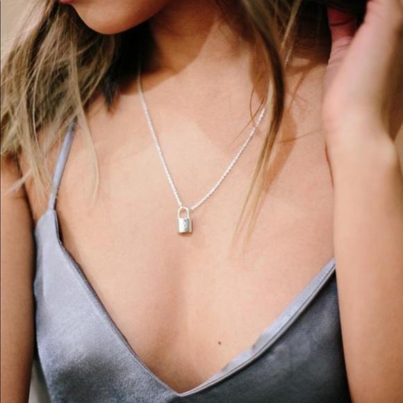 e9e7584d8a5fd Louis Vuitton silver lockit necklace NWT